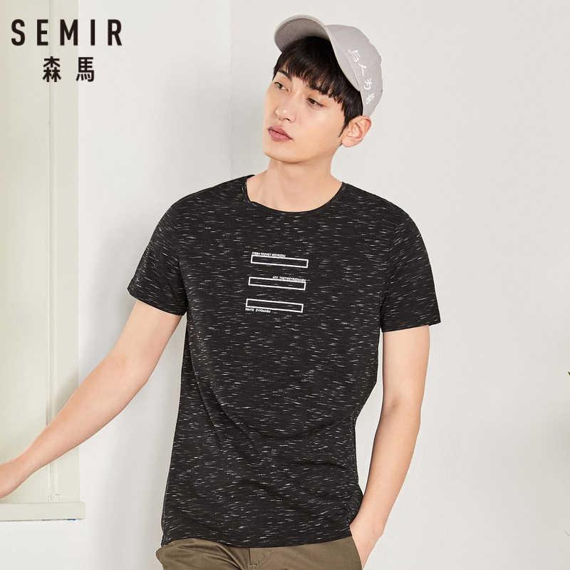 Лидер продаж, футболка с принтом SEMIR Повседневная тонкая футболка с короткими рукавами и круглым вырезом мужские футболки топ из 100% хлопка