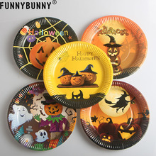 FUNNYBUNNY Frightfully Fancy Halloween Disposable Round Dessert Paper Plates (China) & Buy fancy disposable plates and get free shipping on AliExpress.com