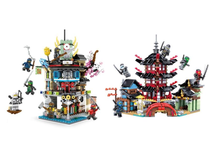 NEW Ninja movie series temple of Airjitzu fit legoings ninjagoings city figures Building Blocks bricks diy Toys gift kid boys