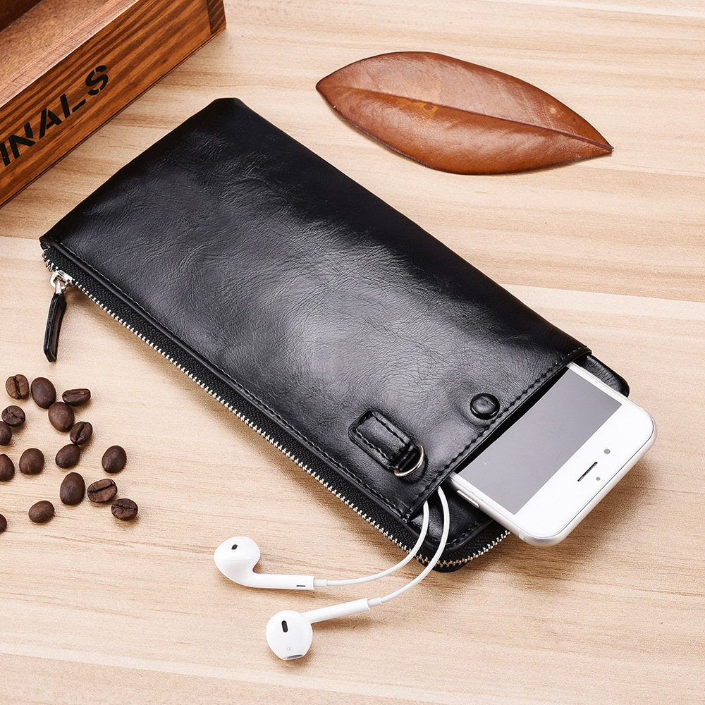Men Wallets Classic Long Style Card Holder Male Purse Quality Zipper Large Capacity Big For Cellphone Brand Luxury Wallet For Me