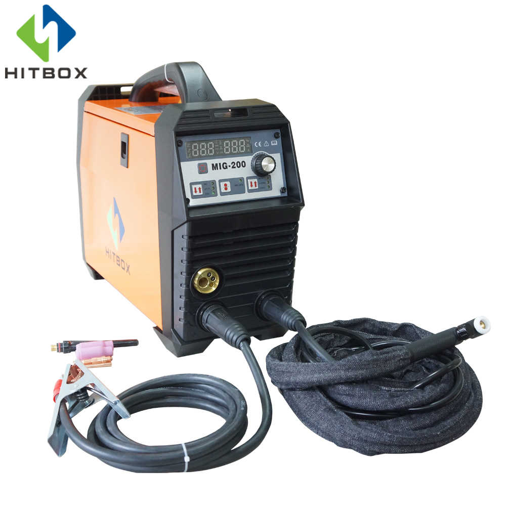 hitbox newest gas welding machine mig200a mig lift tig mma function single phase 220v with accessories [ 1000 x 1000 Pixel ]