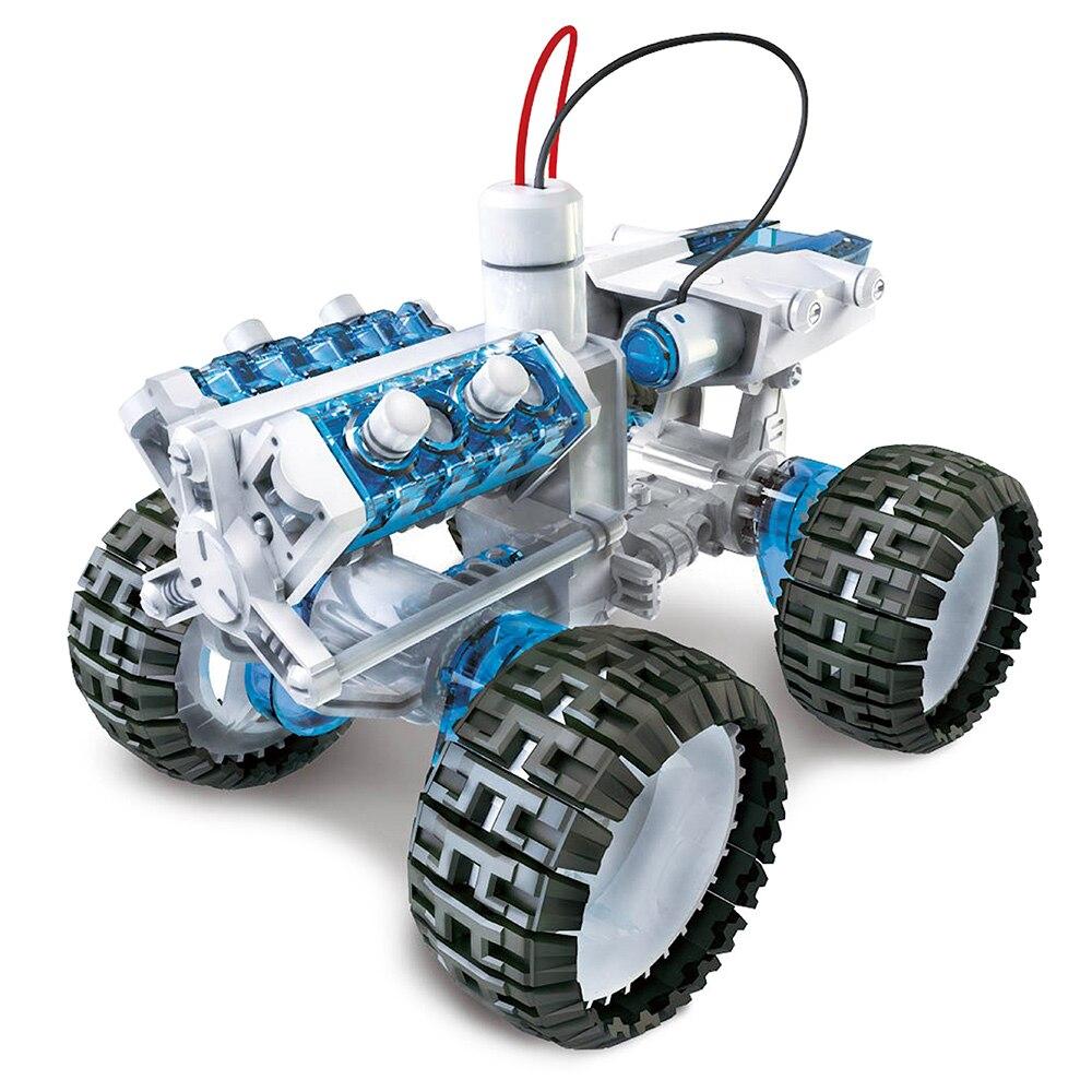subotech diy003 salt water engine car kit diy space vehicle self assembled building block brine power robot educational kid toys