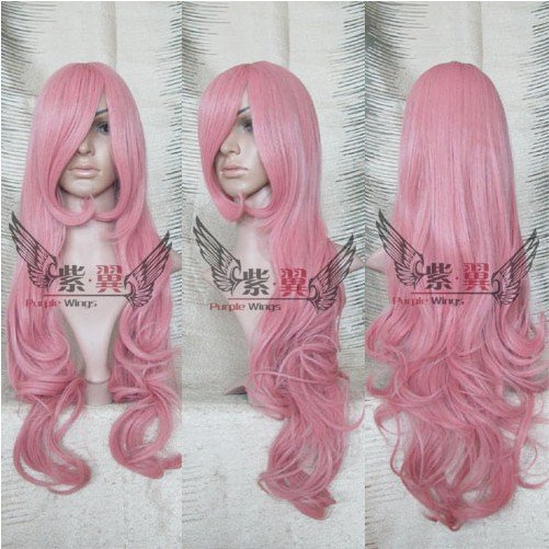 b4c1bbc98 Pink coccinellin extra long curly Full Lace heat-resistant Cosplay Wig- Free  shipping
