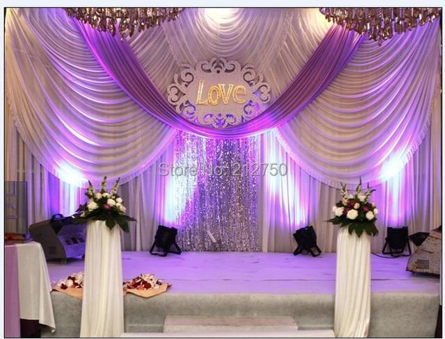 Luxuriose Weiss Lila 3 Mt 6 Mt Ehe Dekoration Hochzeit Hintergrund