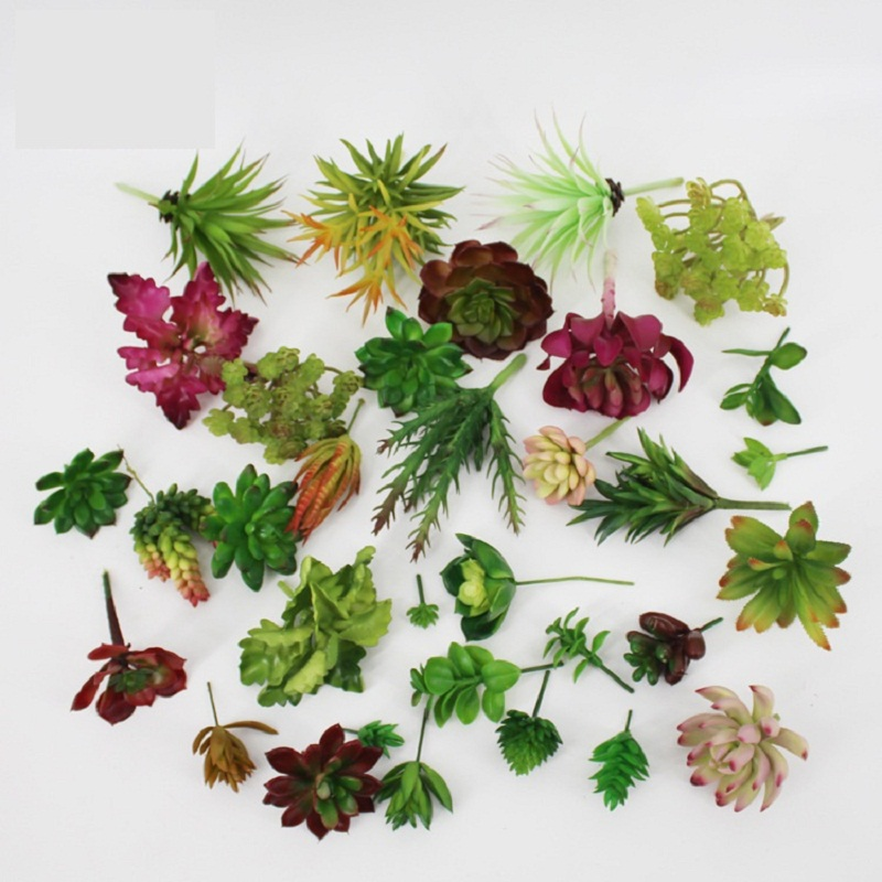 Simulation Single Cheaper Meaty Plant Potted Plant Fittings Succulent Bonsai Landscape DIY Plant For Home Wall Garden Decoration