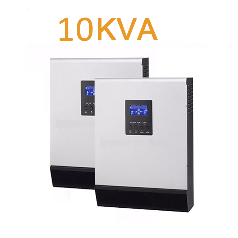 10kva 10000VA  Hybrid Solar Inverter Converter 48v TO 220V/parallel Operation/pure Sine Wave/mppt CHARGING 120A/ac CHARGER