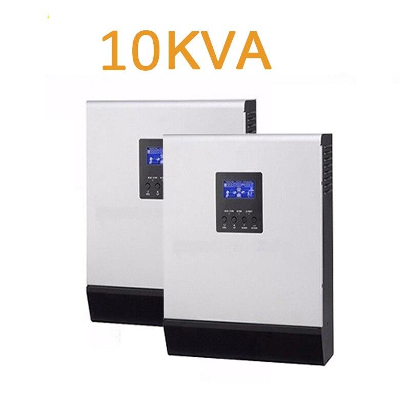 Em uma venda!!!! híbrido solar inversor 10kva 10000VA 48 v A 220 V/operação paralela/onda senoidal pura/CARREGAMENTO 120A /CARREGADOR de MPPT