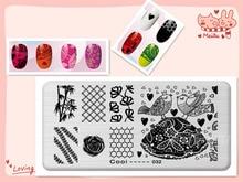 Bird Bamboo Design Image DIY Manicure Nail Art Stamp Template Image Plate Rctangular Stamping PLates Set Beauty Polish Tools