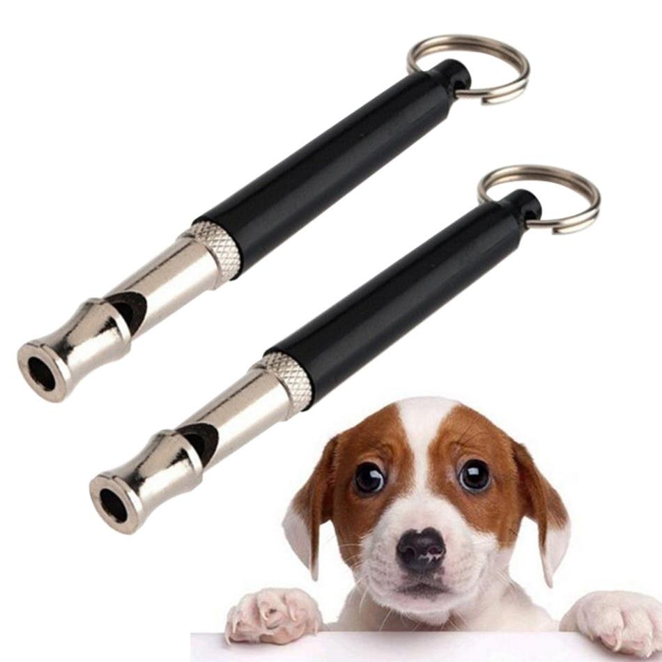 1Pcs Pet Dog Cat Training Obedience Black Whistle