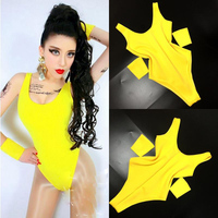 Jazz Dance Costumes Candy Colors Women Nightclub Bodysuit Dj Ds Singer Jumpsuit Stage Show Outfit Pole Dance Clothing DNV10001