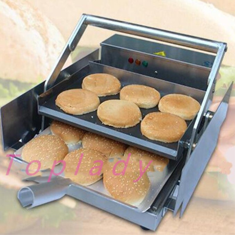 2017 innovative product electric hamburger machine /commercial hamburger Maker/ board bun toaster free shipping