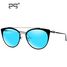 Ojo de gato gafas de Sol Tops para Mujeres Abrigos Retro Gafas Redondas Mujeres moda 2017 Pink miroir de lentes de color gafas de sol mujer 1848