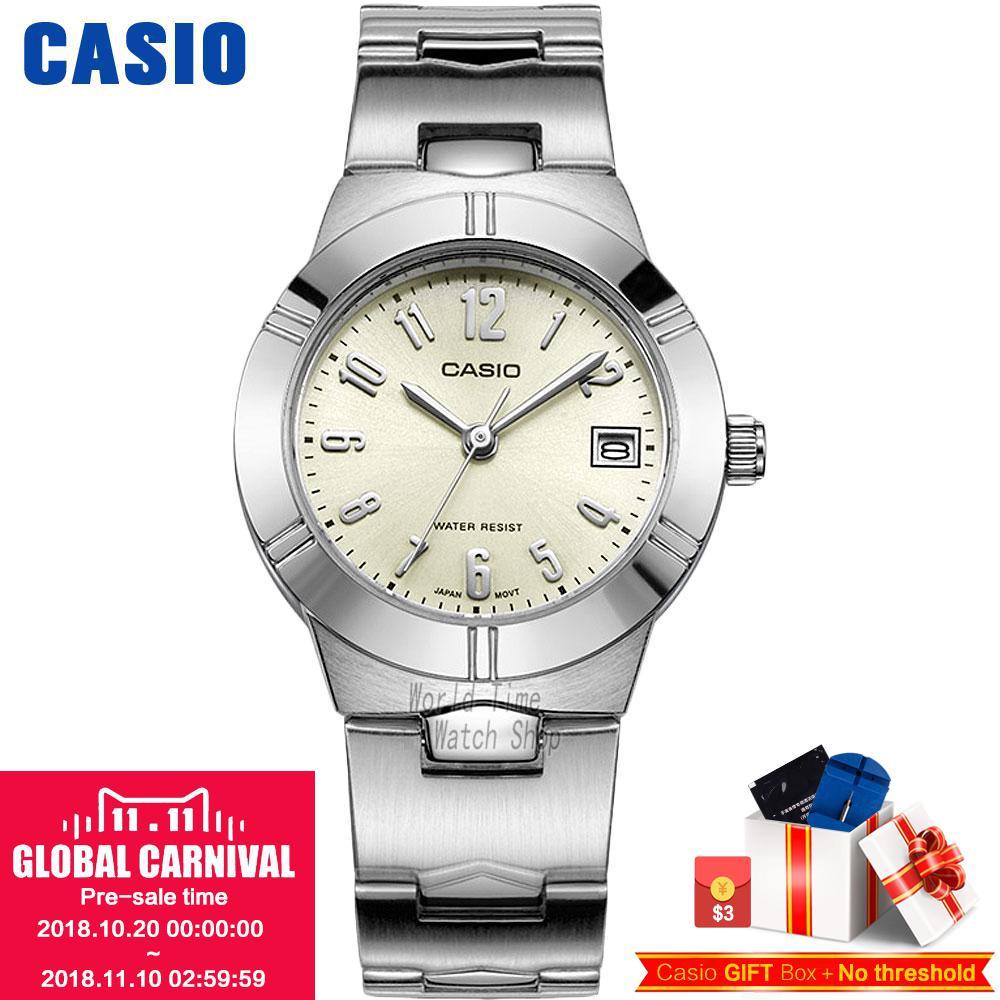 Casio montre Analogique Femmes de Quartz Montre Petit Cadran Étanche Bracelet En Acier Montre LTP-1241