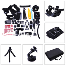 54 in 1 Action Camera Accessories Set & kit Head Chest Mount Floating Kit for GoPro SJ4000 Session Camera