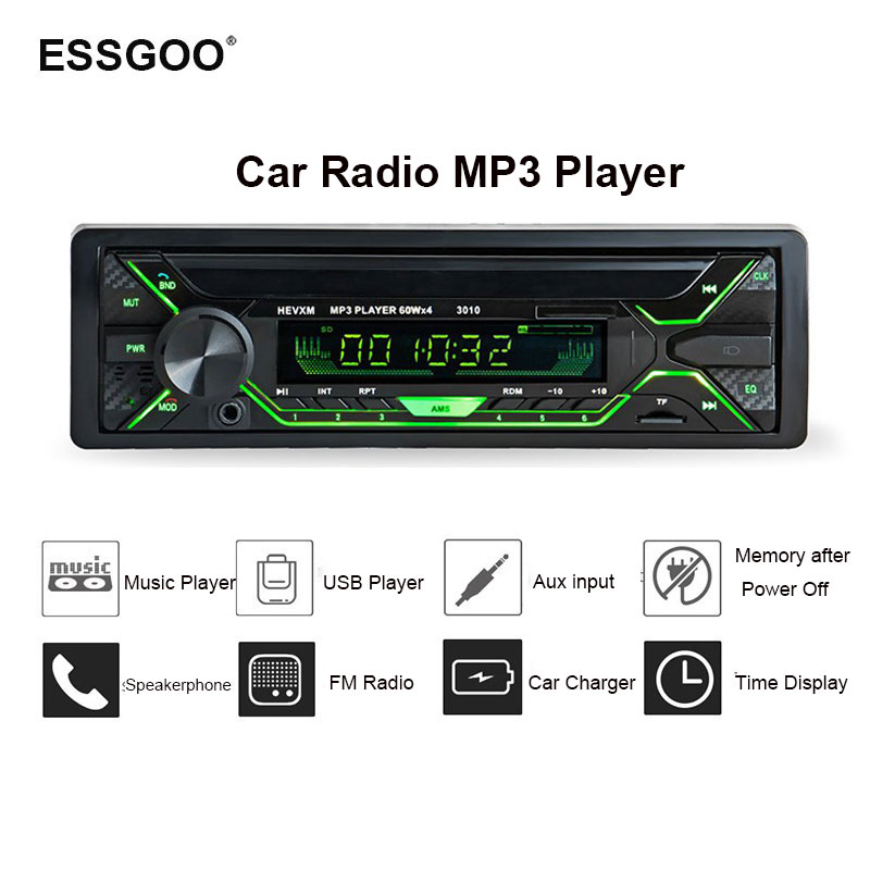 Autoradio 1Din Mp3 Player Bluetooth Hands Free 12v Radio Car Stereo Fm In-Dash Usb Tf Sd Aux Audio Freisprech Receiver стоимость