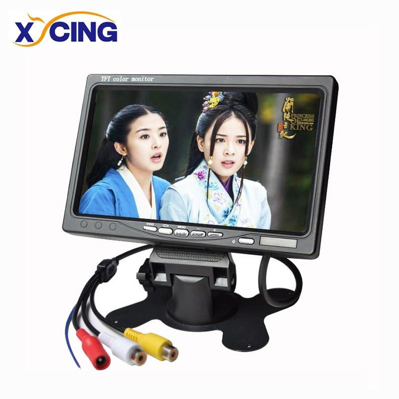 XYCING 7 inch TFT LCD Color 800*480 Car Monitor for Surveillance Camera Car Rear View Camera - 2 AV Input Car Rear View Monitor xy 2073 7 tft color car monitor black