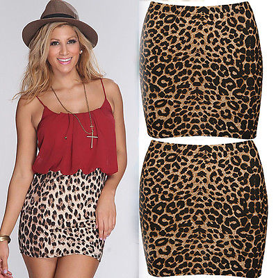 e8e53338cb Aliexpress.com : Buy Summer Womens Sexy Animal Leopard Print Pencil Ladies  Bodycon mini skirts from Reliable Skirts suppliers on Lay It Down Store