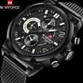 NAVIFORCE бренд мужчины платье часы горячая мужская мода черный кварцевые часы сетка группа 30 М водонепроницаемый наручные часы relógio masculino