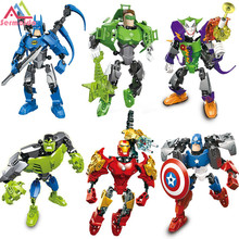 iron Man Hulk Batman Joker Catman Figure Poison Ivy Robin Mr Freeze Calendar Man Quinn Building Blocks Models Toys pogo harley quinn figure single sale xinh 257 building blocks dc batman superhero models kids toys for children