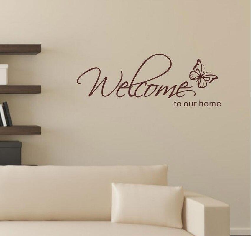 Stickers Muraux Home Decor \'Welkom Om Onze Home\' Tekst Patronen ...