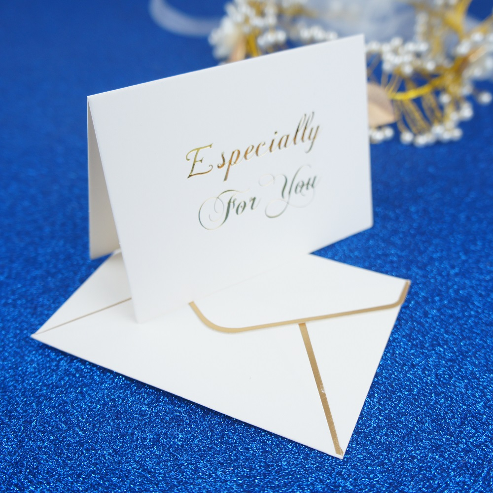 25set gold especially for you fold card fashion design wedding birthday Card greeting cards Invitation with envelope in Cards Invitations from Home Garden