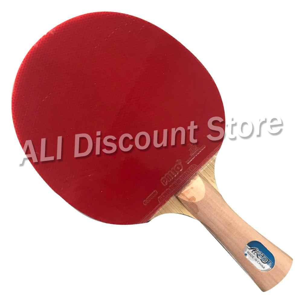 Galaxy YINHE T-11+ Table Tennis Blade with 2x Palio CJ8000 (2-Side Loop) Rubber With Sponge for PingPong Racket FL