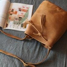 Vendange Новая мода Eoupean и американский стиль натуральная кожа ручной работы маленькое ведро bag8857S
