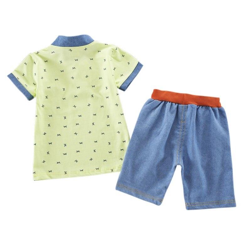 T-shirt dla chłopców Noworodek Baby Boy Ubrania Zestaw T-shirt z - Ubrania dziecięce - Zdjęcie 2