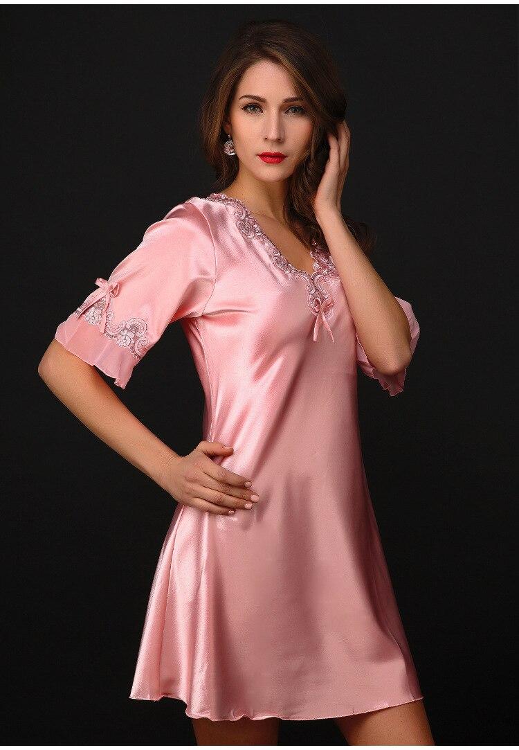 Free Shipping2016 New  summer style Nightgown Nightdress pijama Ladies Sleepwear Women nightwear AZ755