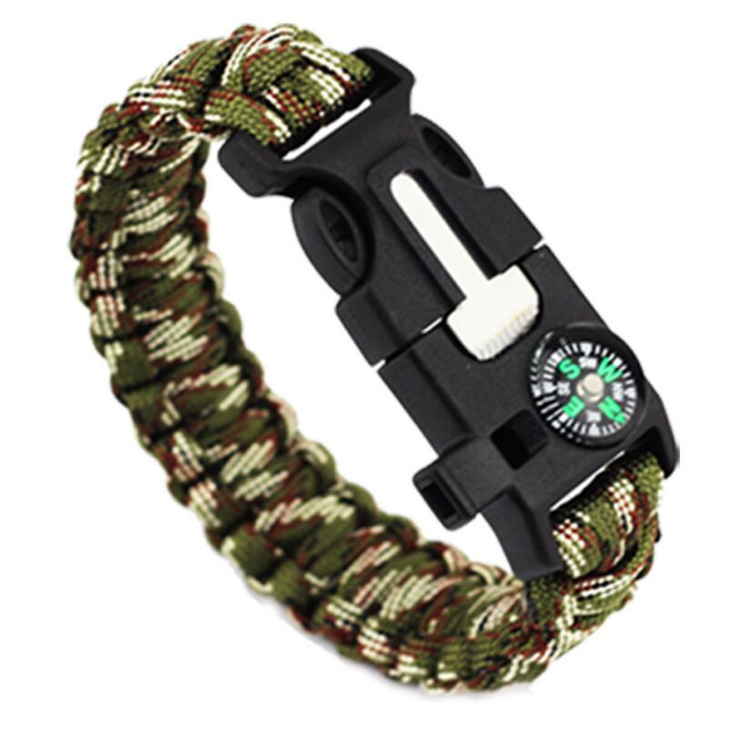 EMAK Paracord Rope 550 Camping Survival Kits Parachute Wristband Emergency Rescue Bracelet Whistle Compass Z503 ...