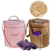 Легко носить с собой пустая Пряжа сумка для хранения пряжа органайзер для всех вязания крючком аксессуары для вязания крючком сумка-тоут DIY ...