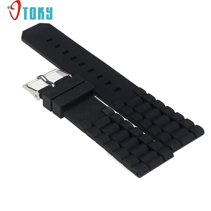 SUNWARD Hot Unique Watchbands Mens Black Silicone Rubber Diver Watch Band Strap Drop ship F20 все цены