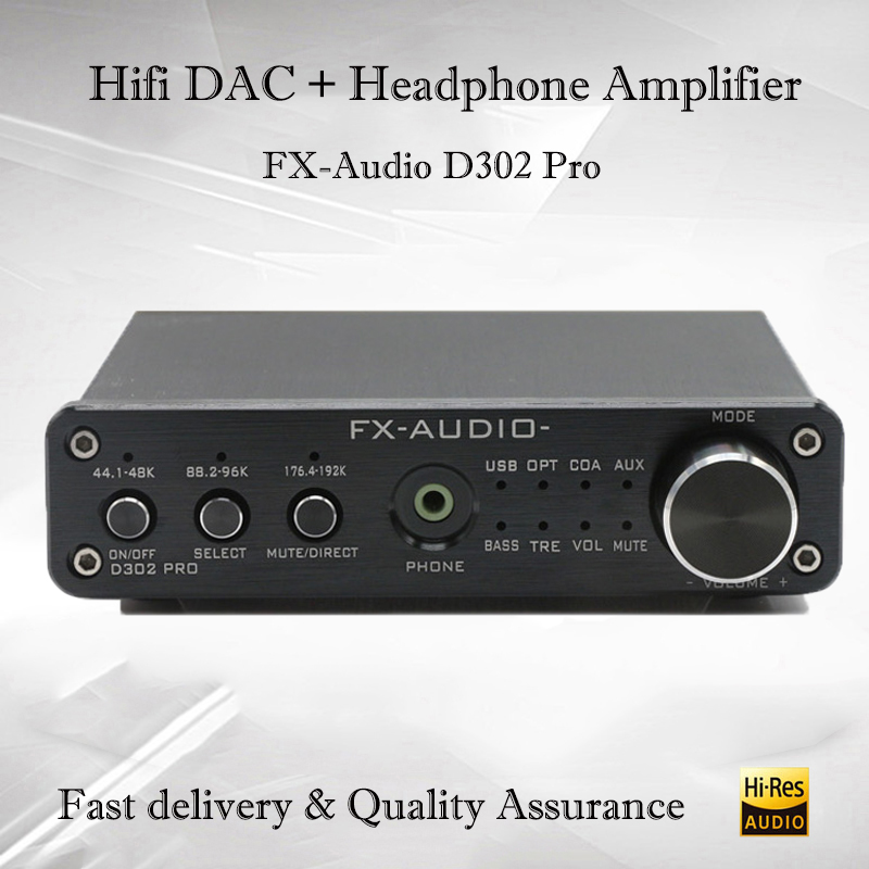 FX-Audio D302Pro Desktop Dac Digital Amplifier Audio USB DAC Audio Power Amplifier NE5532 with Headphone Amp output