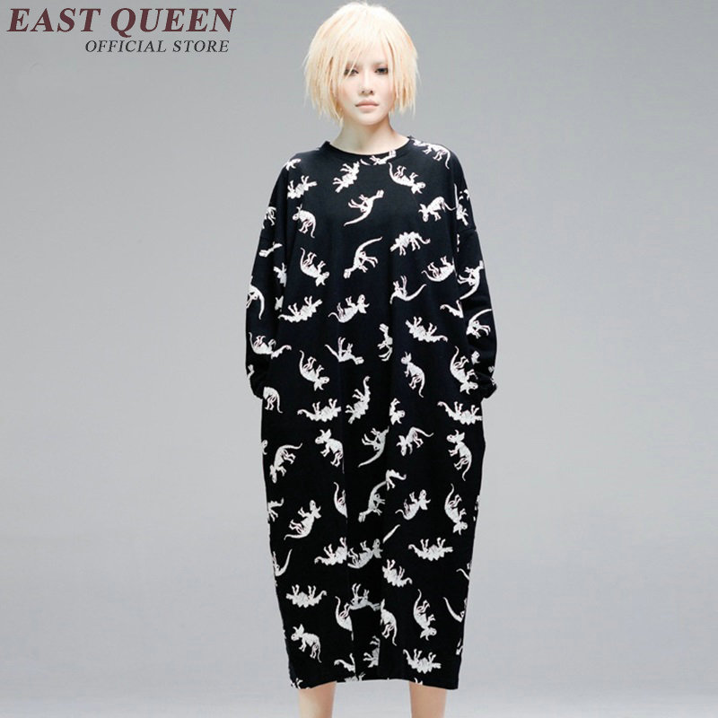 Adult dinosaur costume harajuku style korean fashion women dress fall dresses 2018 kawaii clothing KK1835 H