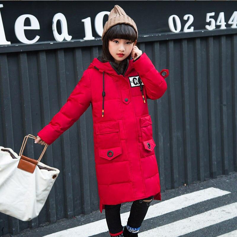 30 градусов; Одежда для девочек; теплый пуховик для девочек; одежда; коллекция 2019 года; зимняя утепленная парка с меховым капюшоном; детская верхняя одежда; пальто