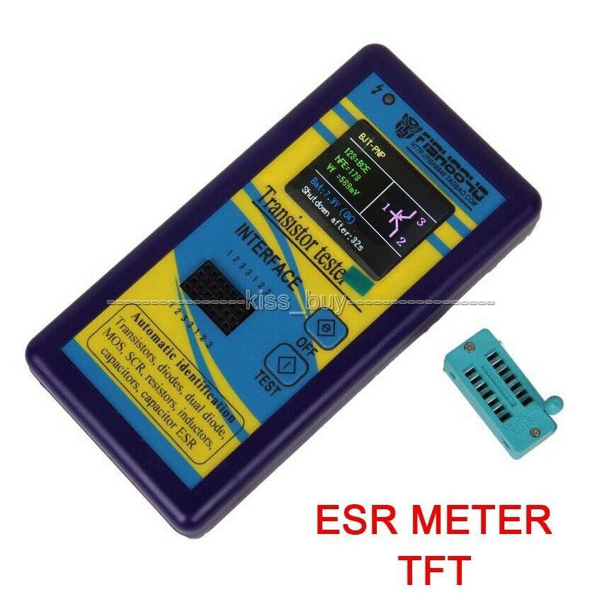 DYKB TFT LCD Transistor Tester Diode Thyristor Kapazität Widerstand Induktivität MOSFET ESR LCR Meter NPN PNP MOSFET-in Batteriezubehörteile aus Verbraucherelektronik bei