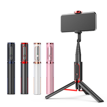 Buy Wireless Vertical Shooting Bluetooth Selfie Stick Tripod Mini Portable 15KG Playload Smartphone Selfie for Android iPhone IOS directly from merchant!