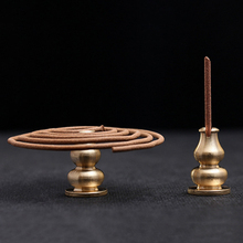 1PC Alloy Copper Incense Holder Gourd Shape Copper Incense Burner Stick Holder Incense Base Plug Home Decoration