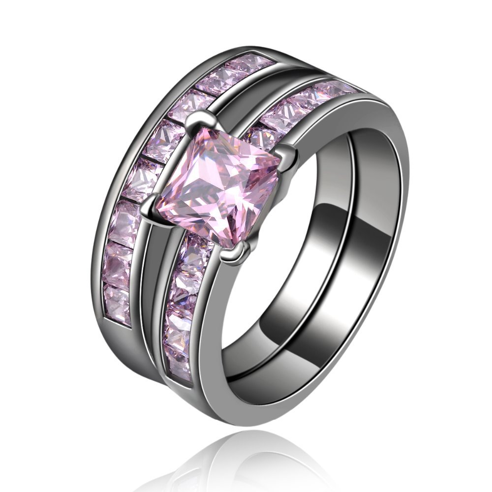 Men Pink Crystal Cz Diamonds  Fashion Times