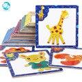 3D Puzzle de madeira Magnético jigsaw puzzle para crianças no início da educação brinquedo de madeira quebra-cabeças de animais dos desenhos animados mesa de jogos infantis