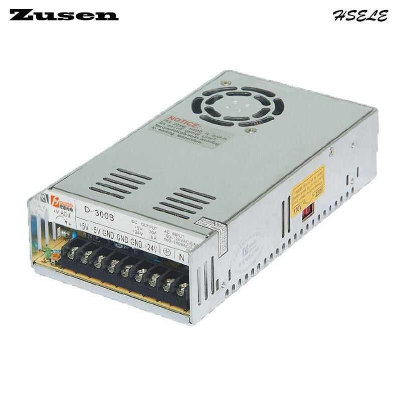 все цены на Zusen D300W-B  Dual Switch Power supply output 300w 110V/220VAC to 5~24VDC онлайн