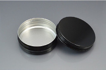100g Black Aluminum Cosmetic Jar Container ,Screw Thread 100pcs/lot 100ml Makeup Container Factory Wholesale