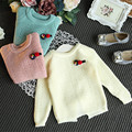 Toddler Girl Sweaters Autumn Long Sleeve Soild Cotton Baby Girls Fashion Sweater Children Clothing Girls Knitted Pullover 2-7Y