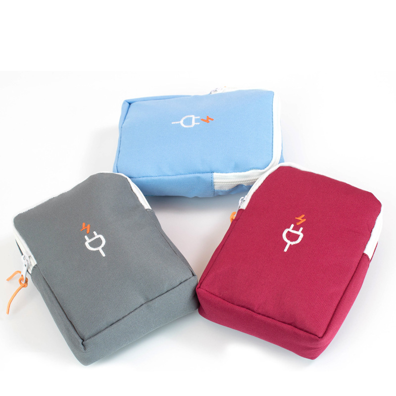 Digital storage bag Travel data cable charger storage bag Micro single camera bag(China)