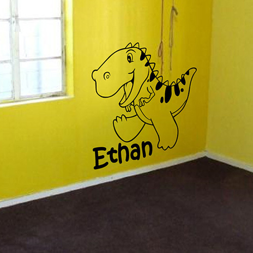 Kids Personalized Dinosaur Vinyl Wall Art Decal Sticker kids wall ...