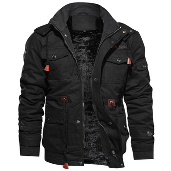 2020 Jacket Men Thick Warm Military Bomber Tactical Jackets Mens Outwear Fleece Breathable Hooded Windbreaker Coats 5XL Clothes 1