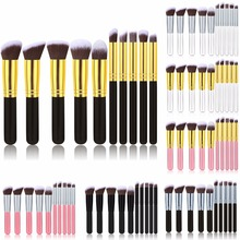 Professional 10Pcs Makeup Brushes Sets Tools Cosmetic Brush Foundation Eyeshadow Eyeliner Lip Powder Make up Brush Beauty Kits