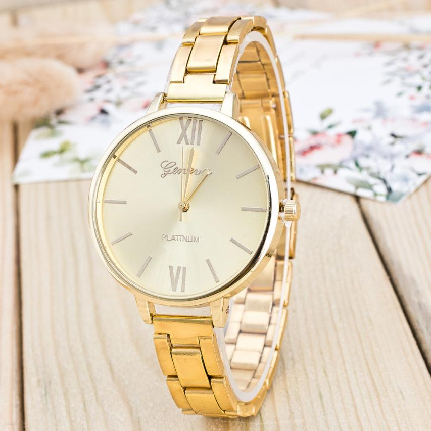 Women Watches Brand 2018 New Women Watches Retro Design Alloy Band Analog Alloy Quartz Wrist Watch Montres Femmes Gold Silver new fashion women retro digital dial leather band quartz analog wrist watch watches wholesale 7055