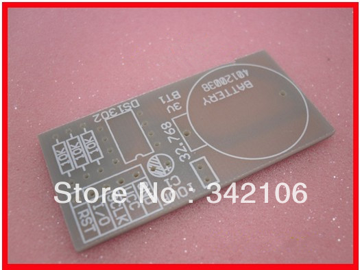 Free Shipping!!! 10pcs DS1302 real time clock down travel time to send the program to send an empty PCB circuit module sensor