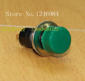 [SA]HIGHLY HIGHLY electronic switch button switch button switch 12MM round without lock PB301 B Green--50pcs/lot